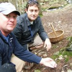 Eric and Keith picking Matsutake